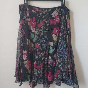 Lauren by Ralph Lauren floral print skirt